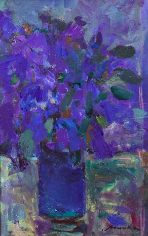 Irises, 2010, acrylic on canvas, 30x45