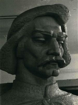 Дипломна робота Лісоруб (Фрагмент, портрет) 1986, мідь, 3 м