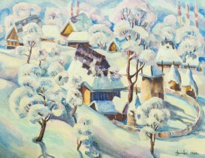 Зимова Верховина, 1988, к.о., 62х80