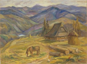 Above Lake Synevyr, 2007, oil on canvas,  60х80