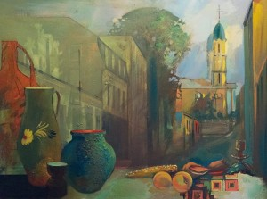 Still Life On The Citys Background, 2004, oil on canvas, 60x80