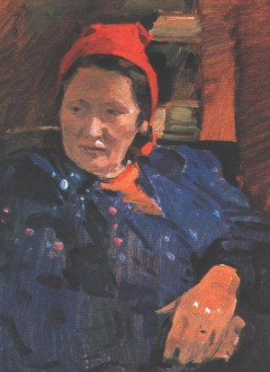 A Womans Portrait, 1954, oil on cardboard, 37х29