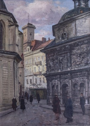 Boim Chapel, 1956, oil on canvas, 77x55