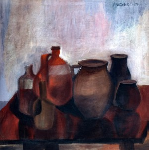 Old Pottery, 1971, tempera on canvas, 2006, oil on canvas, 90x100