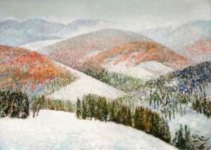 'Сніжні гори', 2012, 70х100
