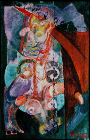 Aries. Year Of The Bull, 1997, oil on canvas, 106x69