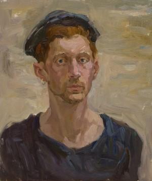 Olena Mishyna. Portrait. 2017. 50х60
