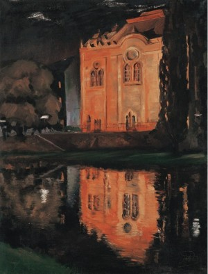 Synagogue in Uzhhorod, 1970s, oil on canvas, 90,2х68,3