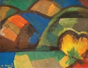 Імпровізація пейзажу, 2012, орг.темпера 30х38