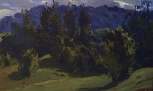 Літній день в горах, кін. 1950-х, к.о. 11х15