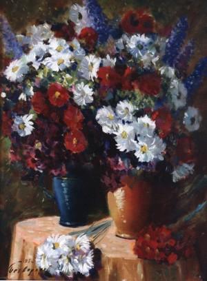 Різноцвіття ромашок, 1993, 80x60