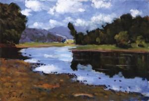 Річка Тур'я, 1984, 35x50