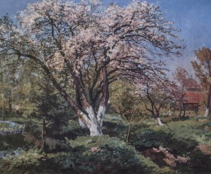 Blooming Apple Tree, 1958, oil on canvas, 78x95