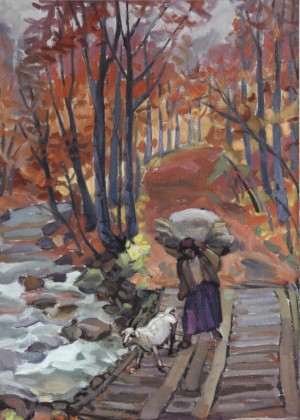 Small Bridge, 2004, oil on canvas, 80x60
