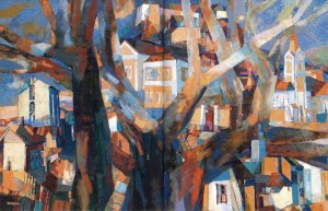 Old Uzhhorod. Architectural Accents, 2008, oil on canvas, 110x165
