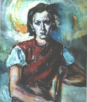 Portrait of the artists sister Ella, 1938, п.о.,  90х80