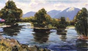 Річка Уж, 1987, 45x70