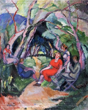 Girls in the garden, 1930