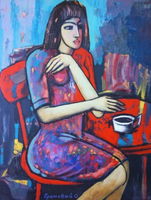 A Cup Of Coffee, 2012, acrylic on cardboard, 70x60