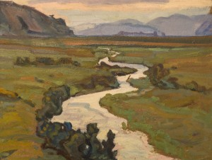 River Mlynovytsia, Dulovo Village, 1962, oil on cardboard, 41х53
