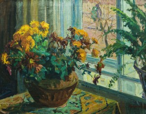 Still life. Marigold, oil on canvas, 58х73