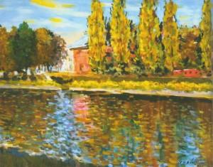 Річка Уж, 1992, 60x80