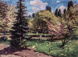 Blooming Park, 1960s, oil on canvas, 59x81