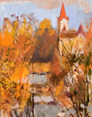 Indian Summer, 2004, oil on canvas, 25x35