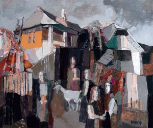 Neighbours. Near The Fence, 2008, oil on canvas, 55x65