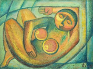Naked, 1988, oil on canvas, 60x80