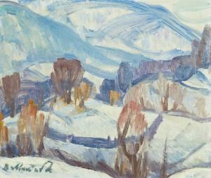 Зимовий краєвид, 27,7х32,6