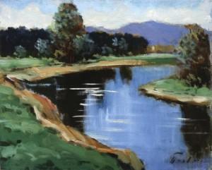 Річка Уж, 1993, 40x50