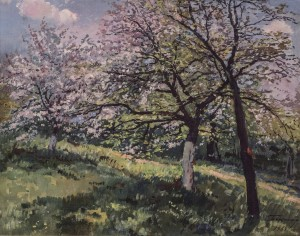 Blooming Apple Tree, 1963, oil on canvas, 75x90