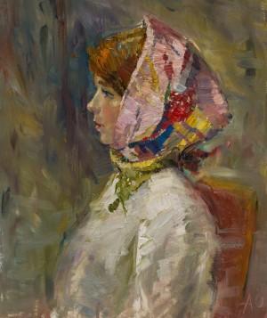 Oleksii Omelchenko. Portrait. 2017. 50х60