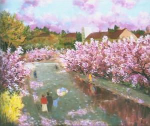Сакури цвітуть, 1997, 85x105