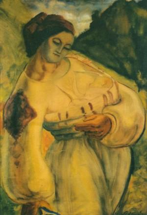 Мати-верховинка, 1937, пап. акв. темп. 100х72