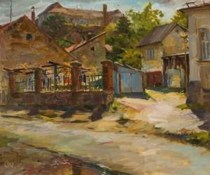 Oleksandr Pavlenko.Cityscape. 2017. 50х60