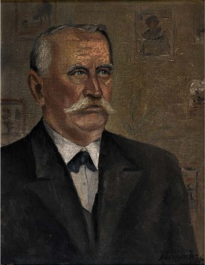 Fathers Portrait, 1936, oil on canvas, 57x44,5