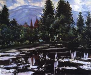 Санаторій «Карпати», 1991, 75x90
