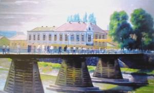 Пішохідний міст. Ужгород, 2005, к.о., 50х80.