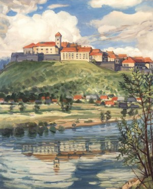 Mukachevo Castle, 1995, oil on canvas, 100.5x85.5