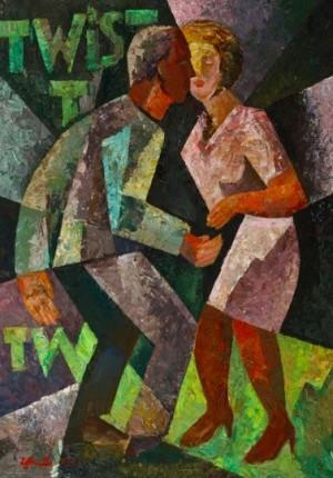 Twist 1', 2002, 80x60