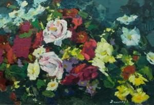 Квіти, 1970-ті, к.о., 40х57