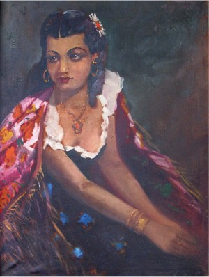 Portrait Of Hizika, 1960, oil on canvas, 79x59