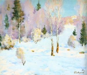 Січневий пейзаж, 1991, 70x80