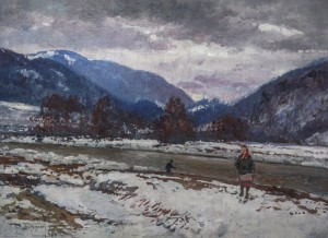 Scenery With The River, 1960s, oil on canvas, 66x89