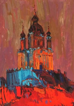 Андріївська церква, 2011, п.о., 60х45