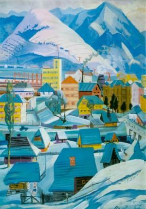 Містечко, 1967, кар.г.темп. 100х69
