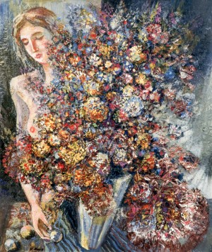 Still Life With Wildflowers, 1992 -1887, acrylic on cardboard, 70x60
