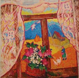 Вікно, 2011, п.о., 80х80